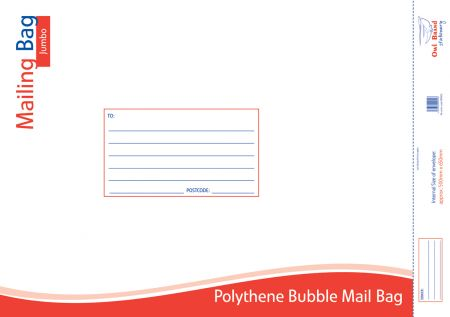 Owl Brand Polythene Bubble Mail Bag Jumbo 500mm x 650mm
