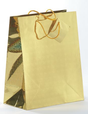 Holographic Gift Bag Assorted Colours Large