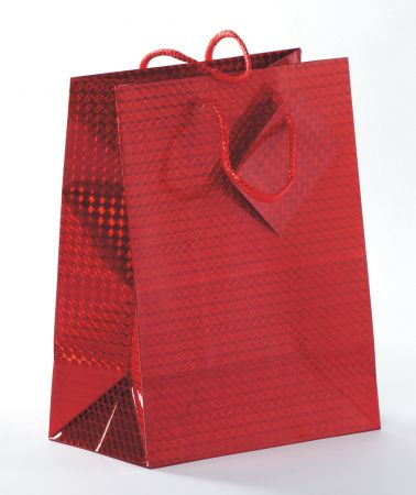 Holographic Gift Bag Assorted Colours Medium
