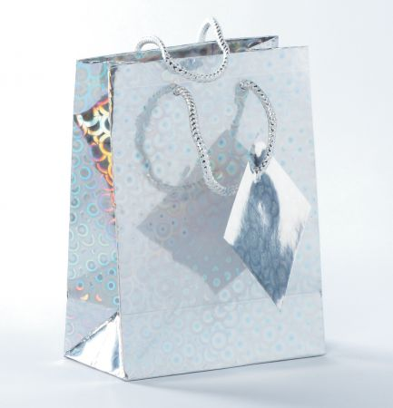 Holographic Gift Bag Assorted Colours Small