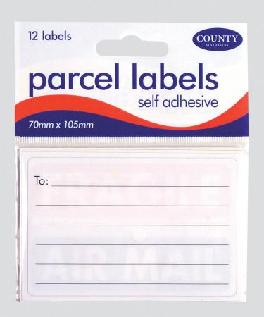 12 S/A Parcel Labels Hang