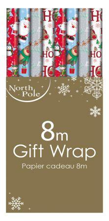 8m Cute Gift Wrap Roll  CDU