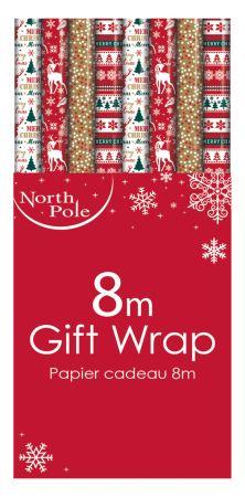 8m Contemporary Gift Wrap Roll  CDU