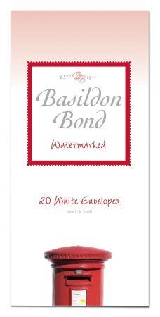 Basildon Bond 20 White Envelopes