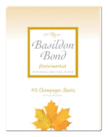 Basildon Bond Duke Champagne Writing Paper 40 Sheets
