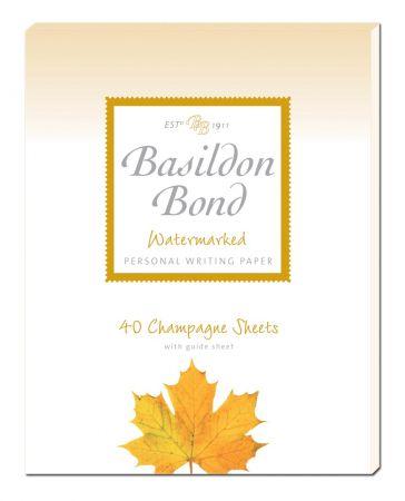 Basildon Bond Champagne Personal Writing Paper 40 Sheets