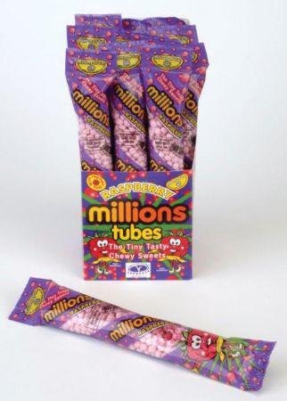 Millions Raspberry 60g Tubes
