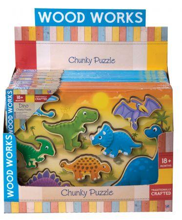 Dino & Vehicles Wood Puzzle CDU