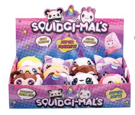 Squidgi-mals 8 Assorted Designs CDU