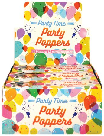 12 Party Poppers Boxed CDU