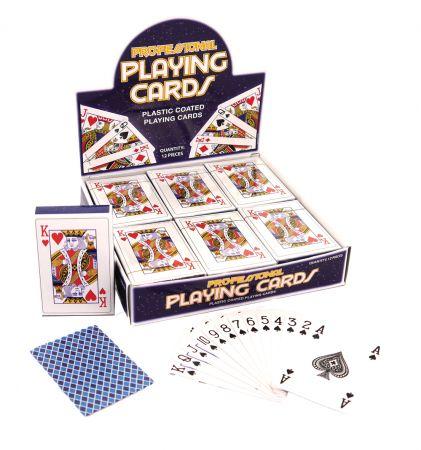 Plastic Coated Playing Cards CDU