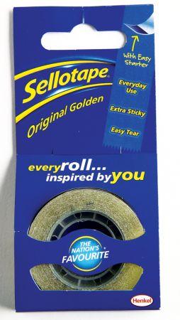 Sellotape 18mm x 25m Original Tape Hang Pack