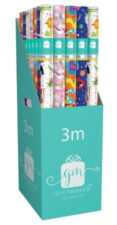 3m Gift Wrap Roll Children's Assortment CDU