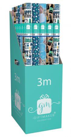 3m Gift Wrap Roll Classic Male  CDU
