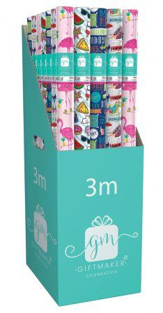 3m Gift Wrap Roll Teen CDU