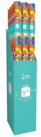 2m Gift Wrap Roll Dinosuars CDU