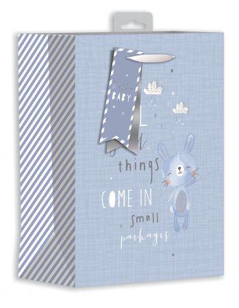 Gift Bag Medium - Baby Bunny Blue
