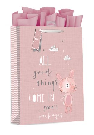 Gift Bag Extra Large Baby Bunny Pink