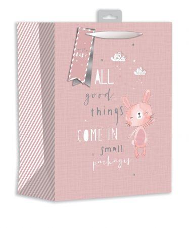 Gift Bag Large - Baby Bunny Pink