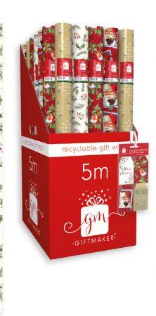 5m Elegant Traditions Gift Wrap Roll CDU