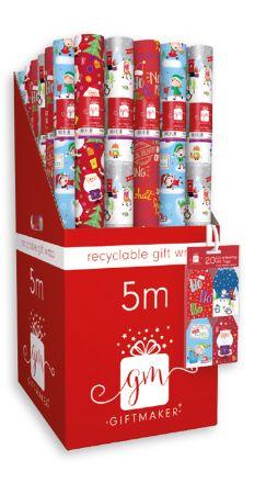 5m Novelty Cute Gift Wrap Roll CDU