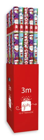 3m Extra Wide Festive Pals Gift Wrap Roll