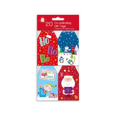 20 Novelty Co-ordinating Gift Tags Hang
