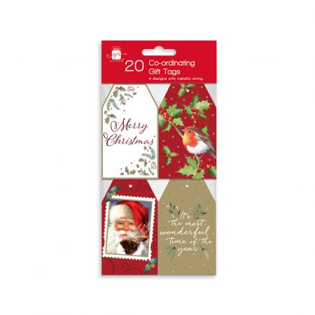20 Elegant Traditions Co-ordinating Gift Tags Hang