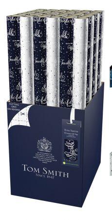 4m Midnight Celebration Gift Wrap Roll CDU