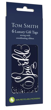 6 Midnight Celebration Gift Tags Hang