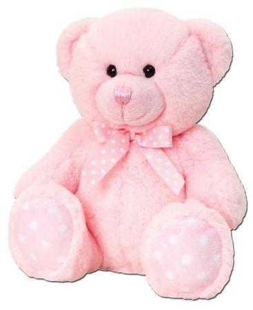 25cm Spotty Bear Pink