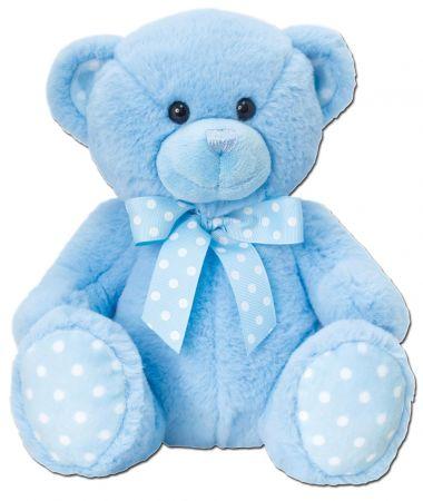 25cm Spotty Bear Blue