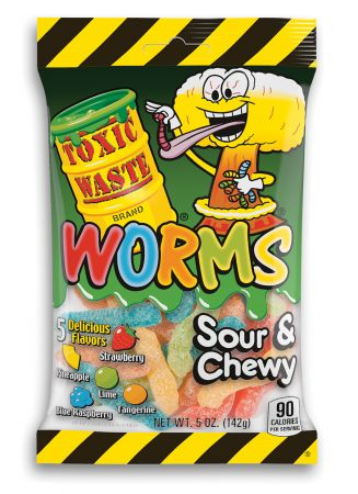 Toxic Waste Sour Gummy Worms