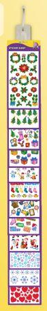 Christmas Stickers Assorted Designs Clip Strip