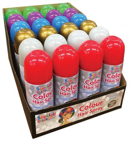 200ml Hair Spray Assorted Colours CDU