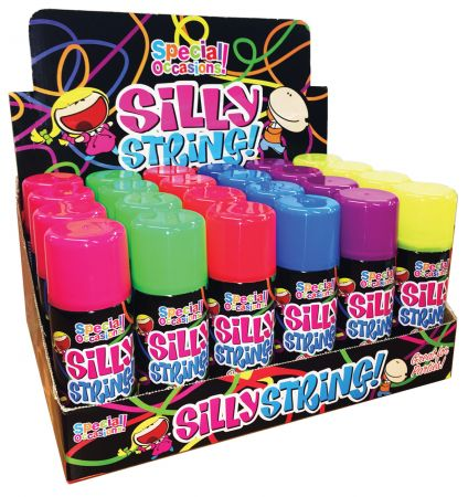 200ml Silly String Assorted Colours CDU