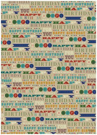 Gift Wrap - Designer Male 2620