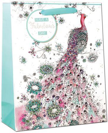 Gift Bag Medium - Peacock