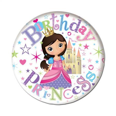 6in Badge Hang Birthday Princess