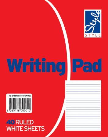 Style Duke Writing Pad White