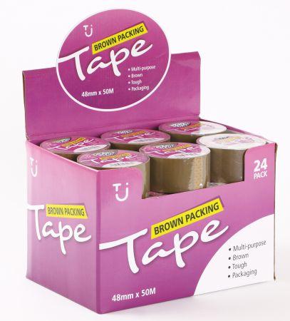 48mm x 50m Brown Packaging Tape CDU