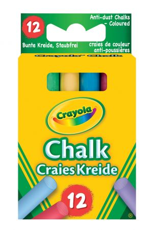 Crayola 12 Coloured Chalks Hang Pack
