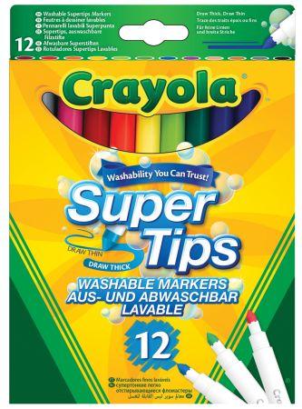 Crayola 12 Supertips Markers Hang Pack