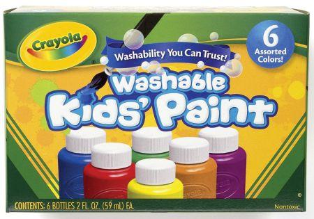 Crayola 6 Washable Paints Boxed
