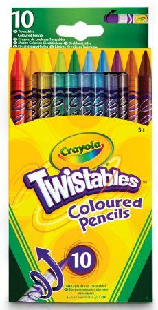 Crayola 10 Twistables Coloured Pencils Hang Pack
