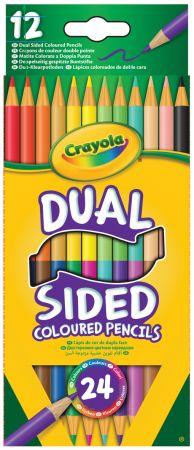 Crayola 12 Dual Sided Pencils Hang Pack