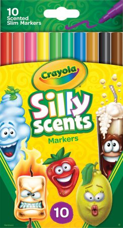 Crayola 10 Fineline Silly Scents Markers Hang Pack